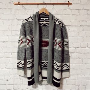 Cupcakes and Cashmere grey sequoia aztec cardigan